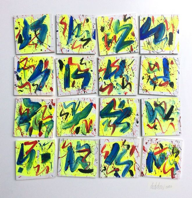 Yellow, Blue and Red Squares sequence 2